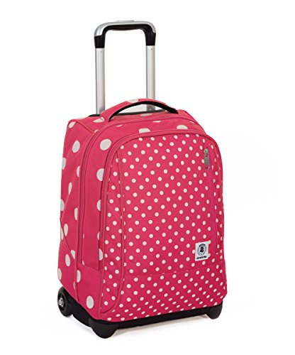 Trolley invicta - tindy- rosa bianco - 36 lt spallacci a scomparsa! uso zaino scuola e viaggio