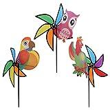 Fogun Windräder, 1 stück 3D Große Nette Tier Windmühle Wind Spinner Whirligig für Kinder Spielzeug Yard Garten Rasen Decor-Farbe Random