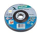 Wolfcraft 1622300 1622300-5 Discos de Cortar para Metal, Cubo deportado diam. 125 x 2,5 x 22,23 mm, 125x2.5x22.2mm, Set de 5 Piezas