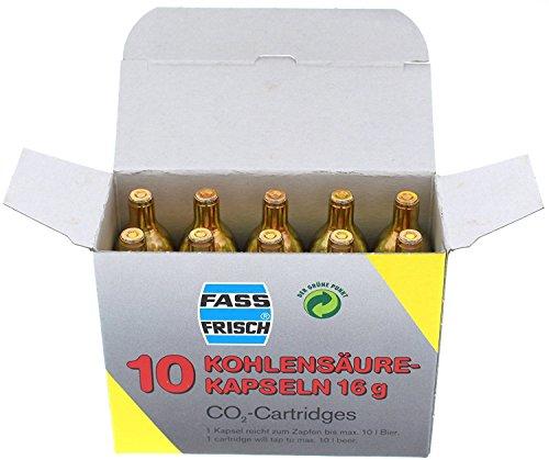 Fass-Frisch Co2-Kapseln, 10 Stück à 16 g