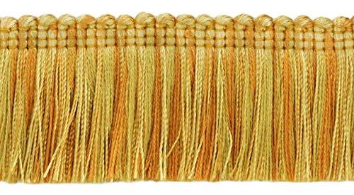 DecoPro Medium & Light Gold|45mm Bürste Fransen Trim|Golden Rays|Cut auf Bestellung -