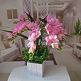 JFWMZyq Künstliche Blumen Set Wohnzimmer Dekoration Topfpflanzen Orchidee Blumenstrauß Rosa 40 X 40Cm.