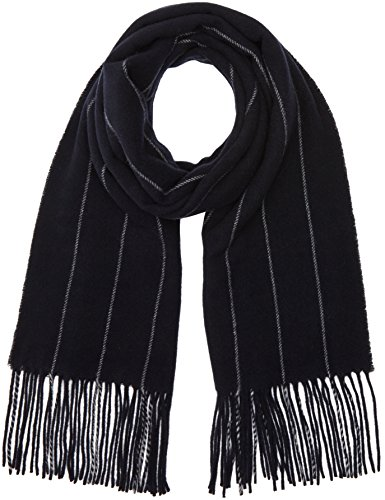 filippa-k-womens-wide-pinstripe-striped-scarf-blue-navy-light-one-size