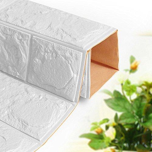 Adesivo Per Muro In Mattoni 3D Antivegetativa In Schiuma Di Polietilene, Resistente All'umidità Impermeabile Rimovibile Carta Da Parati Adesiva Sfondo 5PCS,A,10Pcs
