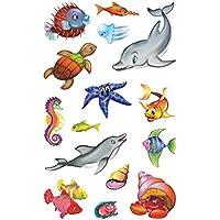 Avery Zweckform 53707 Niños pegatinas, animales marinos, 30 pegatinas