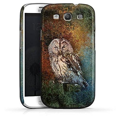 Samsung Galaxy S3 Hülle Premium Case Schutz Cover Eule Wald Kauz