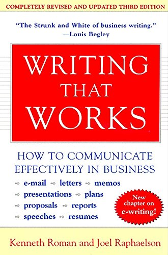 Writing That Works, 3rd Edition: How to Communicate Effectively in Business por Kenneth Roman