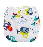 Ularma Couches bébé nouveau-né été couvre couche lavable réutilisable réglable (G)