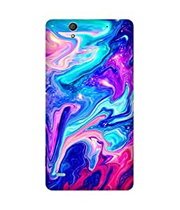 Marble Multi Printed Back Cover Case For Sony Xperia C4
