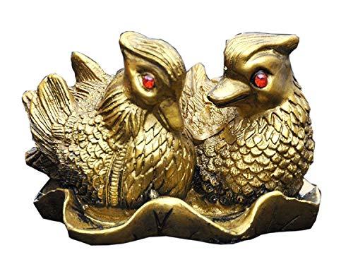 Creativegifts B07NSYLBYZ Mandarine Ente aus Polyresin, rote Augen, 1 Paar -