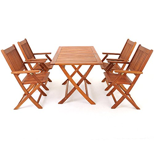 Salon-de-jardin-en-bois-dacacia-Ensemble-table-et-chaise-pliable-Extrieur