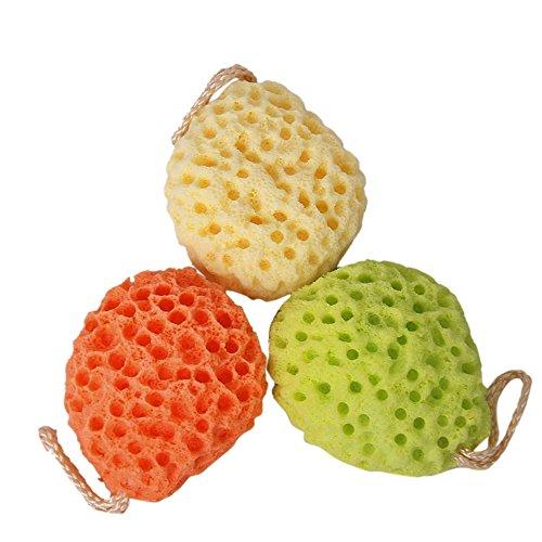 Vococal® 3 Pcs Soft Éponge Corps Bain Douche SPA Exfoliant Visage Lavage Nettoyage Autolaveuses Puff Bracelet