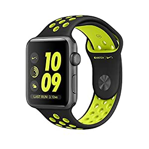 Apple Watch 42mm Nike+ (Series-2) Space Gray Aluminum Case with Black/Volt Nike Sport Band