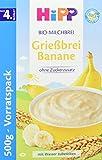 HiPP Bio-Milchbreie - Vorratspackung Grießbrei Banane, 4er Pack (4 x 500 g)