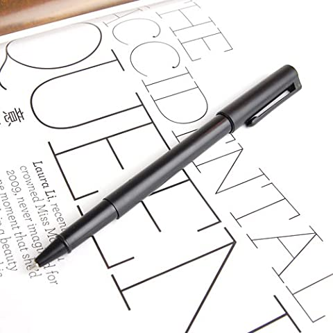 MagiDeal Black Plastic Magic Trick Ball Pen Thru Bill Penetration Toy