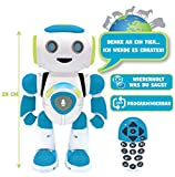 Powerman Jr. Intelligenter Roboter für Kinder der Gedanken liest - Spielzeug für Kinder-Tanzt Musiziert Tier-Quiz STEM Programmierbar Fernbedienung Roboter - Grün/blau-ROB20DE