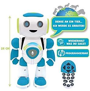 Lexibook ROB20DE Powerman Jr. Juguete Inteligente para Aprender a Leer para niños, programable, con Mando a Distancia, Color Verde y Azul
