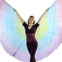 Danzcue ángel ISIS Alas de Danza con Palos para Mujer Mediano Grande Multicolor