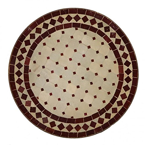 Casa Moro Marokkanische Mosaiktische Ø45 cm Bordeaux