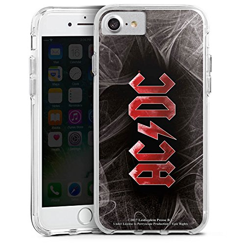 Apple iPhone 6 Bumper Hülle Bumper Case Glitzer Hülle Acdc Logo Merchandise Bumper Case transparent