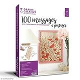 Graines Creatives Cadre 100 Messages a Partager en Bois
