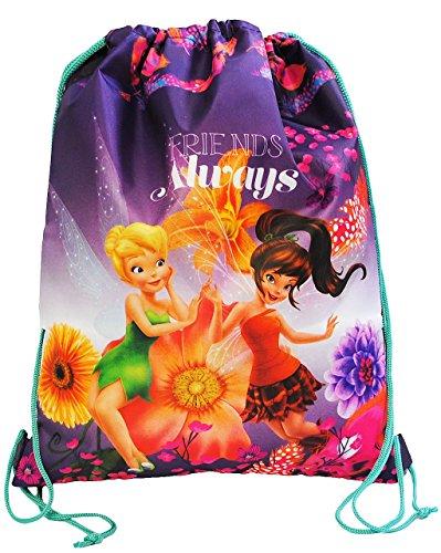 Unbekannt Disney Fairies Tinkerbell / Sportbeutel - Turnbeutel - Schuhbeutel - wasserabweisend abwischbar für Mädchen grün Fairy