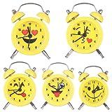 Yeshi Mini Ronda reloj despertador de metal soporte de escritorio para Hogar Sala Cocina Oficina