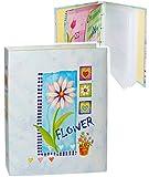 Unbekannt Einsteckalbum / Fotoalbum -  Flower - Blumen - blau  - 11x15 & 10x15 - Ringbuch beliebig erweiterbar - zum Einstecken - für bis zu 80 Bilder - groß Gebunden..
