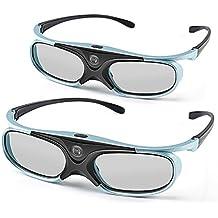 Gafas 3D APEMAN DLP de la serie Recargable de los vidrios 3D VR Realidad Virtual alto brillo / contraste de alta Compatible con los proyectores DLP (1 Par)