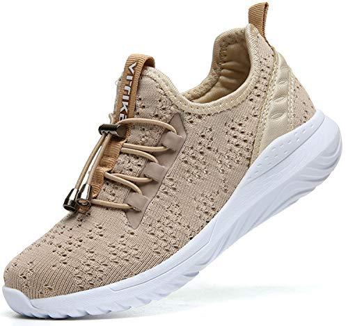 ASHION Kinder Turnschuhe Jungen Sport Schuhe Mädchen Kinderschuhe Sneaker Outdoor Laufschuhe für Unisex-Kinder(D-Khaki,31 EU) Unisex Khaki