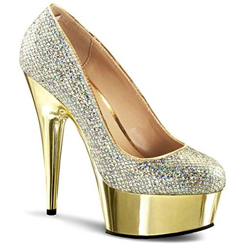 Plateau Pumps gold, Damen, Gold (gold) Gold (Gold)