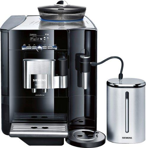 Siemens TE716519DE Kaffee-Vollautomat EQ.7 Plus Aroma Sense (2.1 l, 19 bar, externes Milchsystem) blackSteel