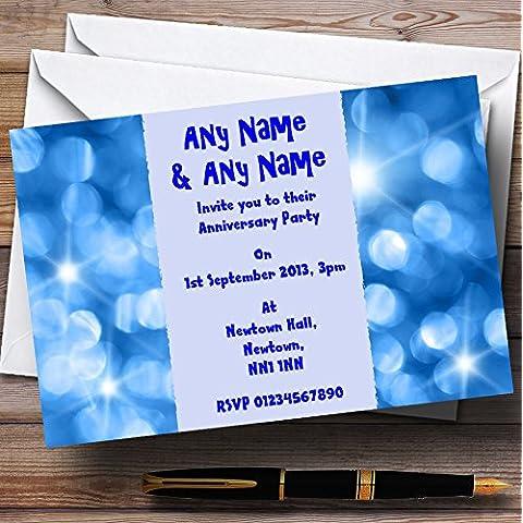 Azul luces de boda fiesta de aniversario personalizado invitaciones/invita y sobres, 40 Invites & Envelopes