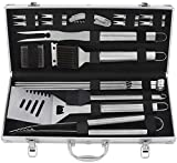 Best Grill Tool Sets - grilljoy 20pcs BBQ Grill Tools Set, Stainless Steel Review