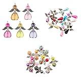Homyl 25er Set Gemischt Engel Flügel Fee Charme Beads Perle Anhänger DIY Schmuckzubehör Perlenengel Anhänger