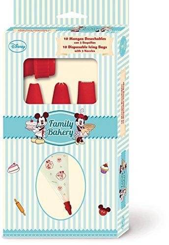 Stor Family Bakery - Set de 10 mangas desechables con 3 boquillas, en estuche