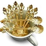 CosCosX - 8 cucharillas de café retro para servir un café perfecto, capuccino, té, postre, tarta, helado, azúcar, condimento o cuchara de especias, 11 cm