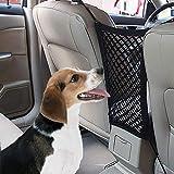 BULY Hunde Rücksitz Barriere Pet Sicherheit Netz Barrier, Auto-Haustier Sicherheitsnetz Fahrzeug Hunde Gepäcknetz Rücksitz Hund Schutznetz für sicher und angenehm Reise Auto Netz 30CM x 25 cm