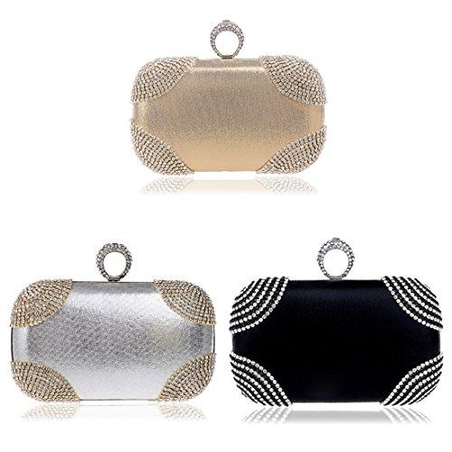 YYW Evening Bag, Poschette giorno donna Silver