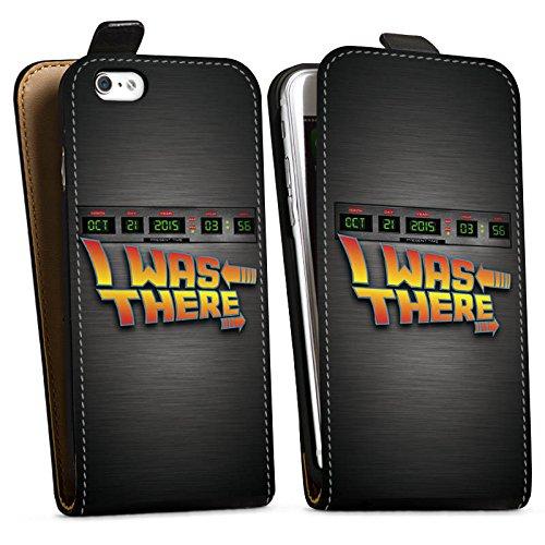 Apple iPhone X Silikon Hülle Case Schutzhülle Zukunft Future Marty Downflip Tasche schwarz