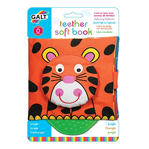 Galt Toys Jungle Teether Soft Book, Essential baby toys, toys for every developmental stage, baby toys, must have baby toys, the best toys for babies, gift ideas for babies, Christmas baby gift ideas, gifts for babies