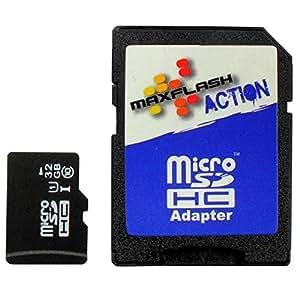 Carte Mémoire MicroSD 32Go Pour Olympus Pen E-PL6, Classe 10, Supporte Ultra HD;