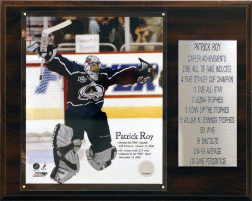 C & I Collectables NHL Patrick Roy Colorado Avalanche Karriere Stat Plaque