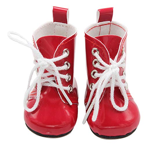mxjeeio Spitze Stiefel Puppenschuhe Mini Schuhe für American Girl Puppen