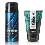 Wild Stone Legend Deodorant and Edge Face Wash Combo (150 ml + 50 ml)