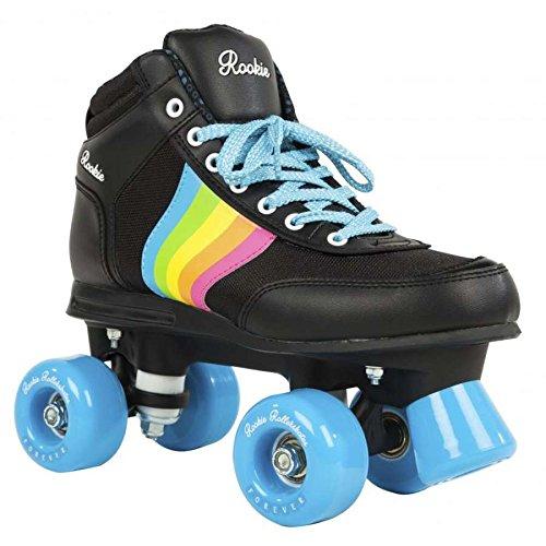 ROOKIE Unisex Rollerskates Forever Rainbow V2 RKE-SKA-2032 39,5 Black/Rainbow
