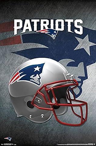 New England Patriots Helmet Football NFL Poster RP14991