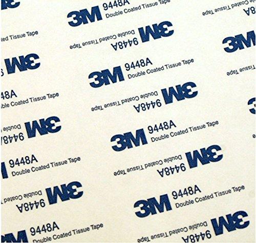 3M Klebestreifen KLAR, Acrylschaum, quadratischer Klebestreifen, 100mm x 100mm x 0,15mm dick, Robuster Klebestreifen ~ für Batelarbeiten, Handys, Touchscreens, LCD-Bildschirme, Elektronik-Reparaturen, Handwerk, Kunst, Scrapbooking, Kartenherstellung, etc... (Scrapbooking Zurück)