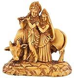 HOUZZPLUS handicraft Radha Krishna, Radha Krisna, God Idols, Figures handicraft for gift, home décor, puja, pooja , spiritual(10 cm x 5 cm x 10 cm, Brown and Beige)