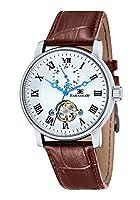 Thomas Earnshaw Reloj Automático Observatory doble barril de la colección Midnight con analógica y correa de piel